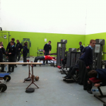 student facilities weights room banner
