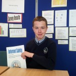 David Osborne with his project on internet safety
