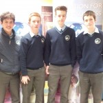 Jack Murphy, Seán O'Shea, Fionnbharr Hickey, Daniel Keane at ISTA Junior Science Quiz