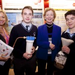 Luke Murphy and Cian Buckley O'Sullivan pictured with Sarah Manning BT and Mary Robinson.