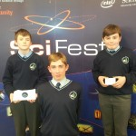 Seán Farndon, Aaron Duggan and Seán Myers who were awarded an honorary award for the headphones they designed