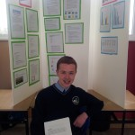 Third prizewinner, Davis Osborne with his project on computer hacking