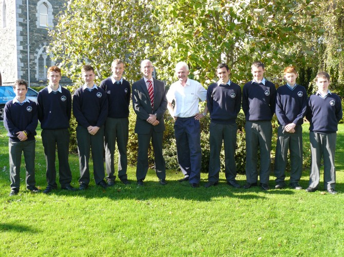 Fionnbarr Walsh with Students