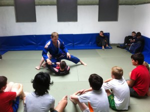 Grappling with trianer PJ Lucey