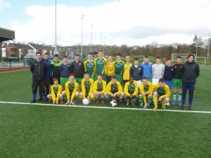 sports at st.brendans u15 munster final soccer banner