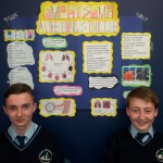 Dylan Murphy and William Brosnan with their project on emphysema