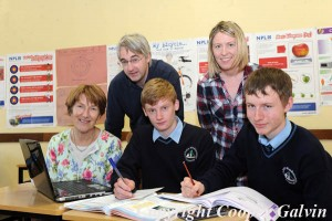 St Brendan's College students Corey Kissane and Stephen McKenna who will complete in the Maths/ Science Olympiad with their teachers Marie Lawlor (back left) Jeremy Kenny and Nora O'Dowd.