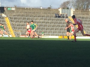 Patrick DArcy attaching with the ball