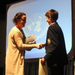 Harry Knoblauch accepting his award for best delegate