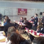 Harry Knoblauch representing the UK at Model United Nations