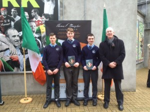 Rory Ahern, Ben Flavin & Richard Wallace  with Sean Coffey