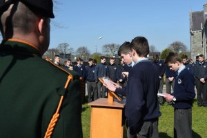 Students at the Flag Raising ceremony in St Brendan's College, Killarney. Photo by Michelle Cooper Galvin