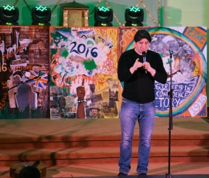 Brian Kennedy performing at the Liam O'Connor show in St Brendan's College, Killarney. Photo by Michelle Cooper Galvin