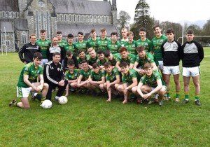 St Brendan's College Senior Football team who will contest the All Ireland Hogan Cup final at Croke Park on the 2nd April with team captain Danny O'Brien, team manager Gary McGrath, selectors Arthur Fitzgerald and Hugh Rudden. Photo by Michelle Cooper Galvin