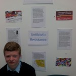 Max Walsh with his project on antibiotic resistance