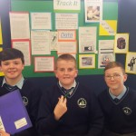 Peter O'Shea, Jack Linehan and Christian Casey with their invention 'The Ultimate Tracker'