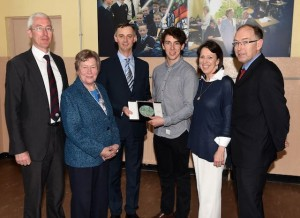 Aiden O'Shea guest speaker (third from left) presenting the St Brendan's Gold Medal for Academic excellence to Fionán O'Donoghue with (from left) Sean Coffey Principal, Sr Mary McMahon Chairperson Board of Management, Mish and Michael O'Donoghue at St Brendan's College Student Awards 2016 on Friday. Photo by Michelle Cooper Galvin