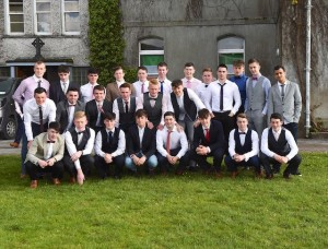 Some of the St Brendan's College Leaving Certificate students at their Graduation Mass in St Brendan's College, Killarney on Tuesday. Photo by Michelle Cooper Galvin
